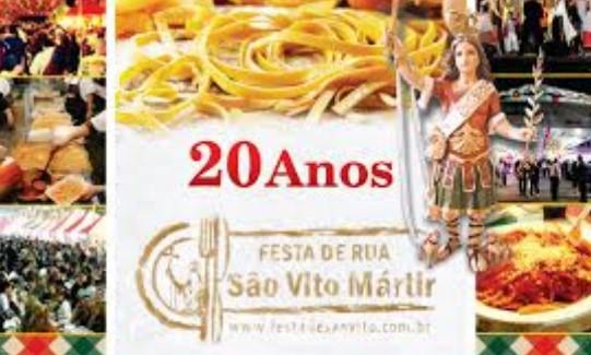 Participe Festa de Rua São Vito Mártir!