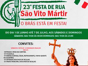 Programação da 23ª Festa de São Vito Mártir -  Paróquia São Vito
